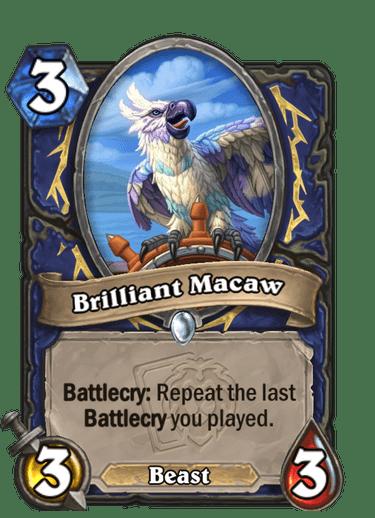 Brilliant Macaw Card Image