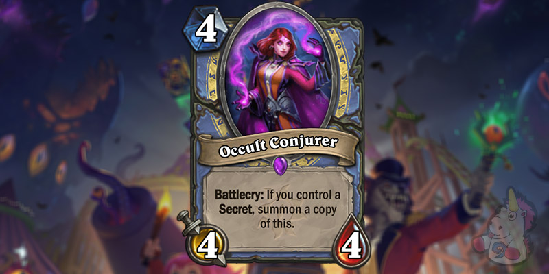 Occult Conjurer is a New Mage Card Revealed for Hearthstone's Darkmoon Faire Expansion