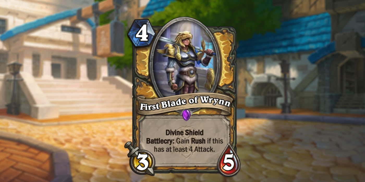 New Paladin Card Revealed for United in Stormwind by Navegando en Videojuegos - First Blade of Wrynn