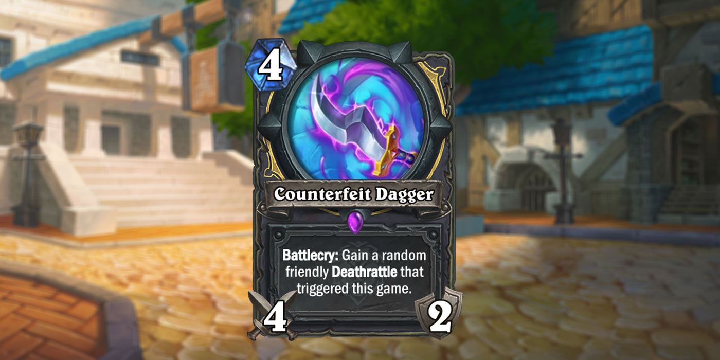 New Rogue Card Revealed for United in Stormwind by ZhengMao - Counterfeit Blade