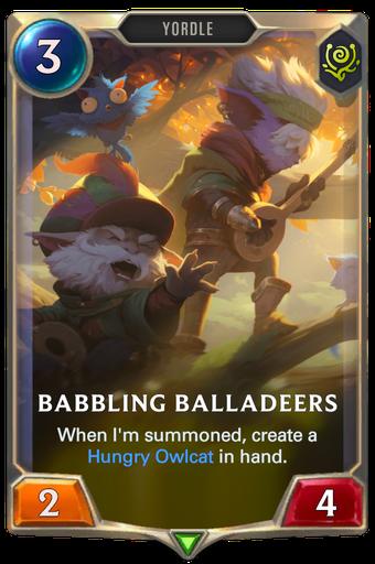Babbling Balladeers Card Image