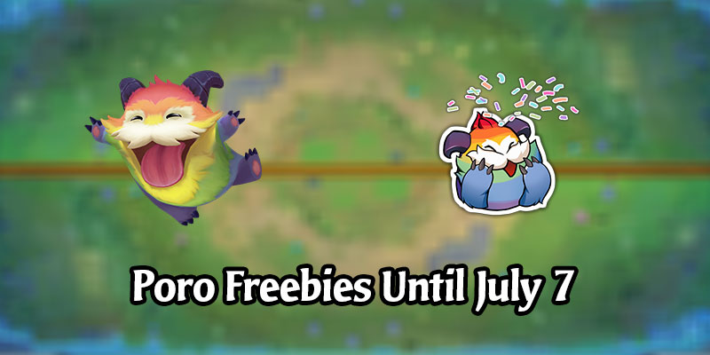 Login to Legends of Runeterra for the Free Rainbow Poro and Poro Pride Emote!