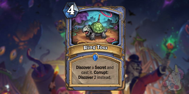 Ring Toss is a New Mage Card Revealed for Hearthstone's Darkmoon Faire Expansion