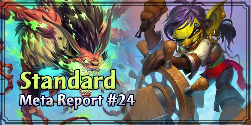 Standard Meta Report #24 - Top Hearthstone Decks February 16, 2020 - February 23, 2020