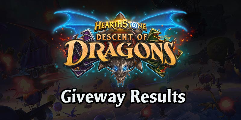 Descent of Dragons Giveaway Results
