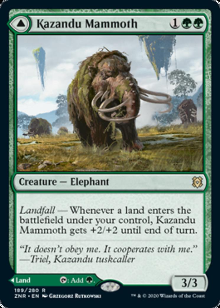 Kazandu Mammoth // Kazandu Valley Card Image