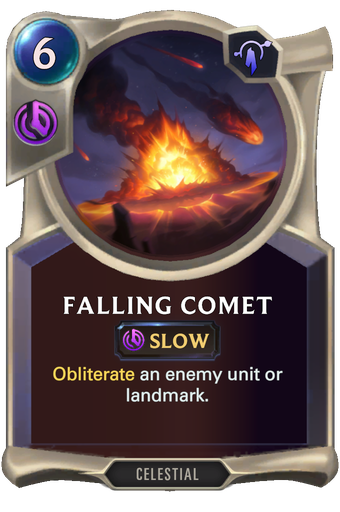 Falling Comet Card Image