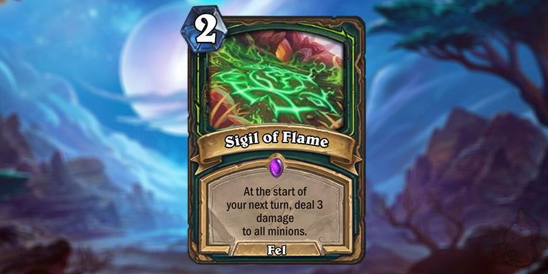 Slow Site Reveals a New Forged in the Barrens Demon Hunter Card - Sigil of Flame