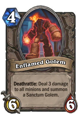 Enflamed Golem Card Image