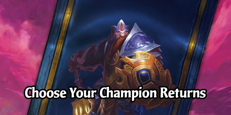Choose Your Champion Returns For The Hearthstone 2020 World Championship - Free Darkmoon Faire Card Packs!