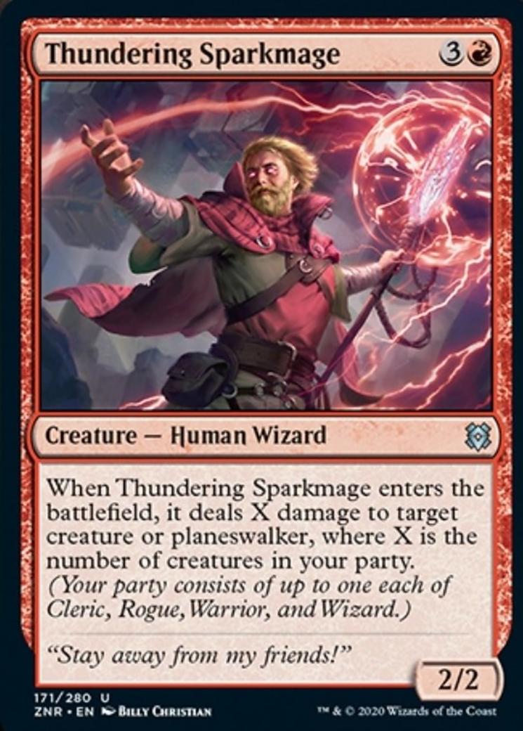 Thundering Sparkmage Card Image