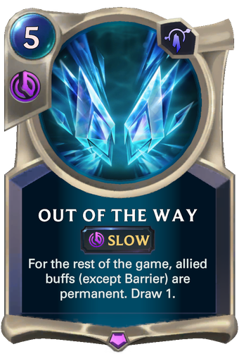 Out Of The Way Card Image