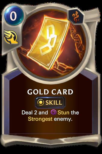 Gold Card Card Image