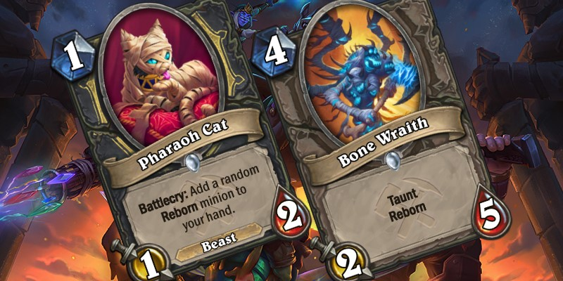 Two Uldum Card Reveals - Pharaoh Cat & Bone Wraith