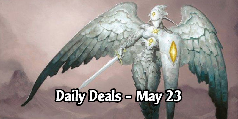 Get a Platinum Angel Sleeve Today for 50% Off! MTG Arena Daily Deals for May 23