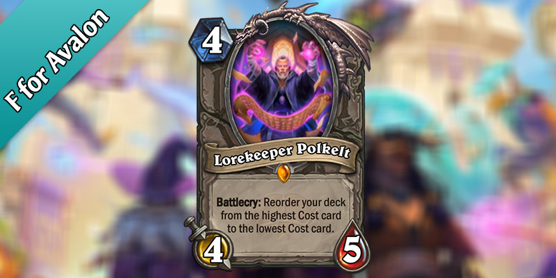 Lorekeeper Polkelt is a New Legendary Revealed for Hearthstone's Scholomance Academy Expansion