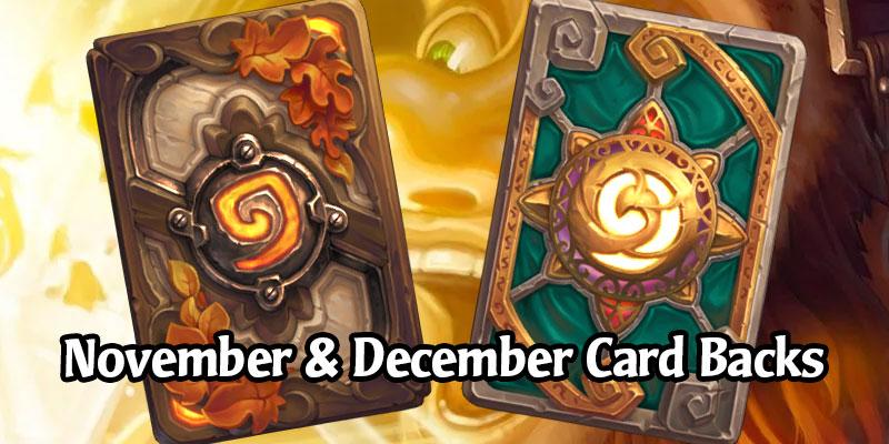 November and December Card Backs Revealed - Autumn Leaf & Valorous Virtue (Plus Some Speculation)