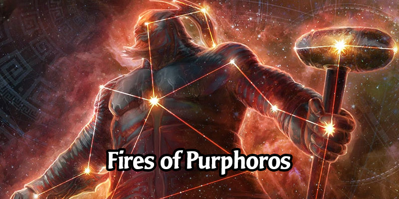 The Festival of the Gods Event Series Begins with The Fires of Purphoros - Standard Artisan Format with 3 Card Styles