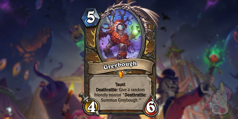 Greybough is a New Druid Legendary Revealed for Hearthstone's Darkmoon Faire Expansion