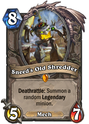 Sneed's Old Shredder Card Image