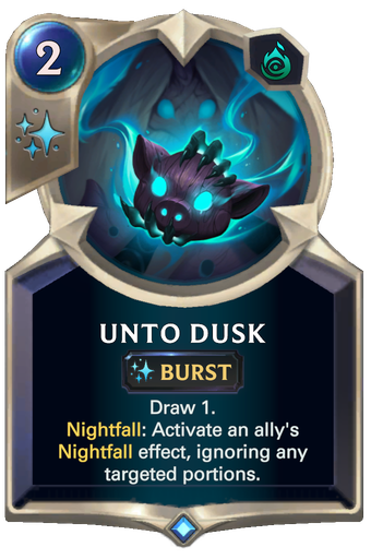 Unto Dusk Card Image