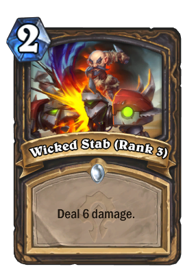 Wicked Stab (Rank 3) Card Image