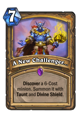 A New Challenger... Card Image
