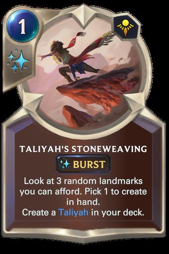 Taliyah's Stoneweaving Card Image