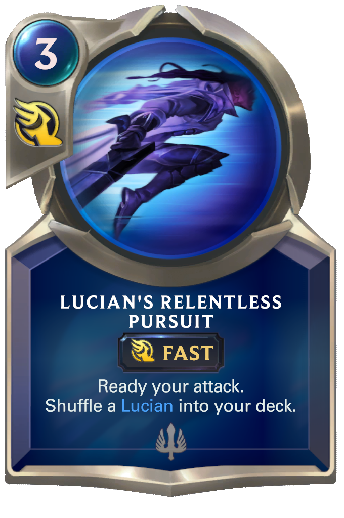Lucian's Relentless Pursuit Card Image