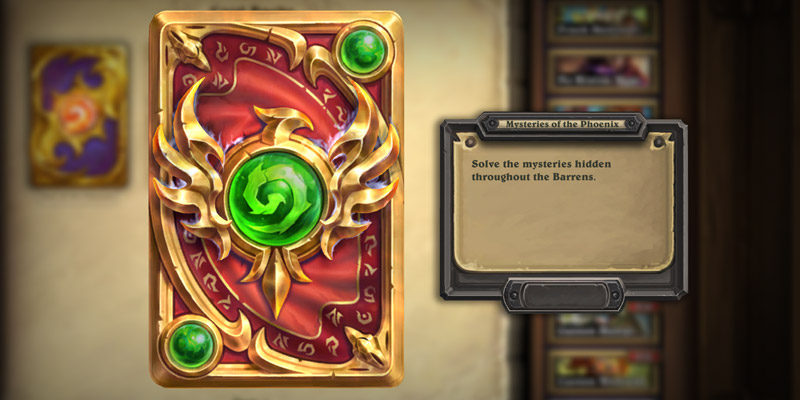 "Hearthstone has a New ""Mysteries of the Phoenix"" Card Back - Requires Solving a Barrens Puzzle"