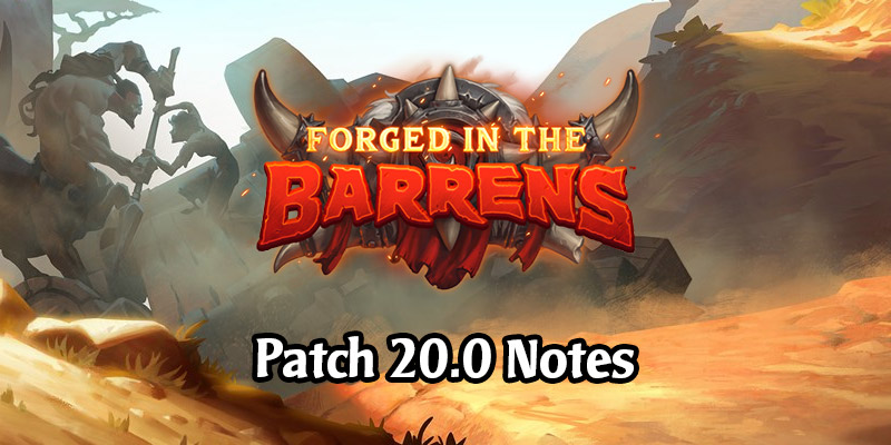 Hearthstone's Patch 20.0 Arrives March 25 - Nerfs, Saurfang in Battlegrounds, Arena Rotation, More Deck Slots, and More!
