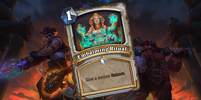 Uldum Priest Card Reveal - Embalming Ritual