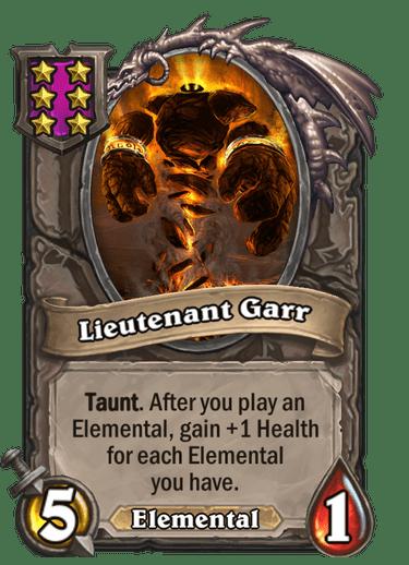 Lieutenant Garr Card Image