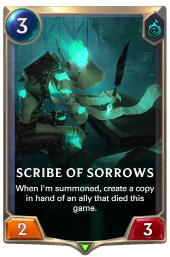 Scribe of Sorrows Card Image