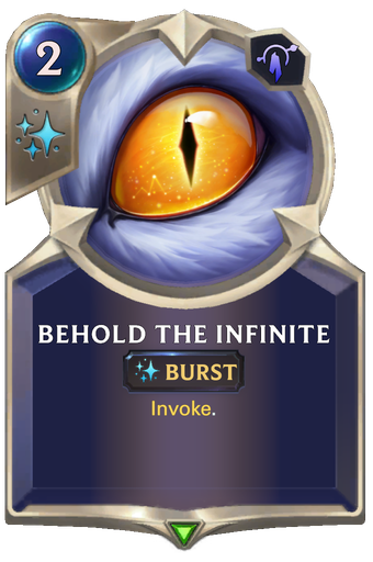 Behold the Infinite Card Image