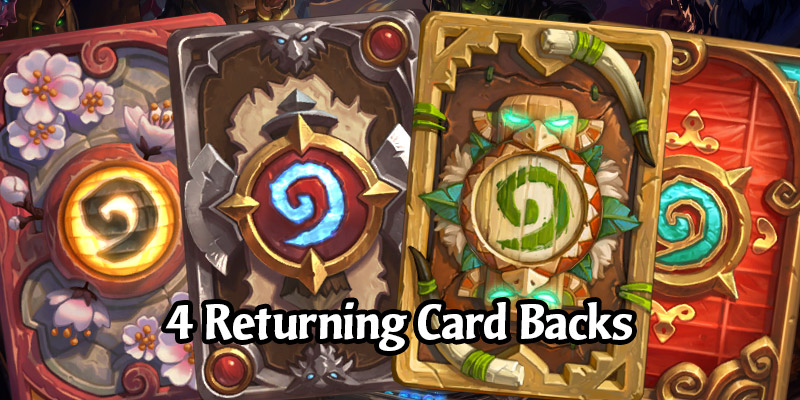 Four Card Backs are Returning to Hearthstone's Shop in the Future and Fit Thematically