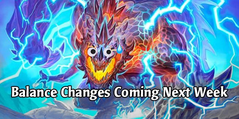 Hearthstone Balance Changes Confirmed For Next Week