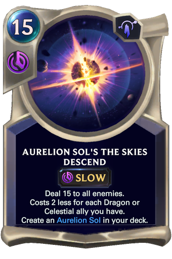 Aurelion Sol's The Skies Descend Card Image