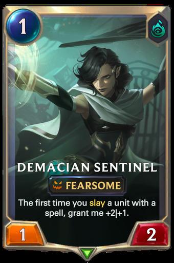 Demacian Sentinel Card Image