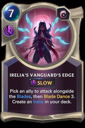 Irelia's Vanguard's Edge Card Image