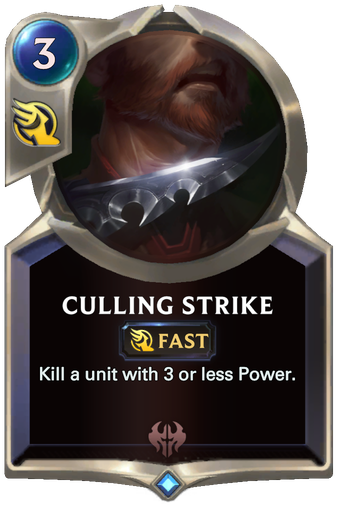Culling Strike Card Image