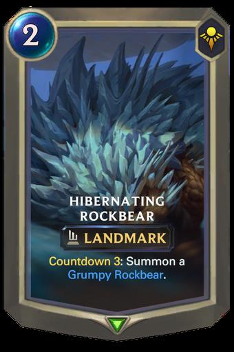 Hibernating Rockbear Card Image