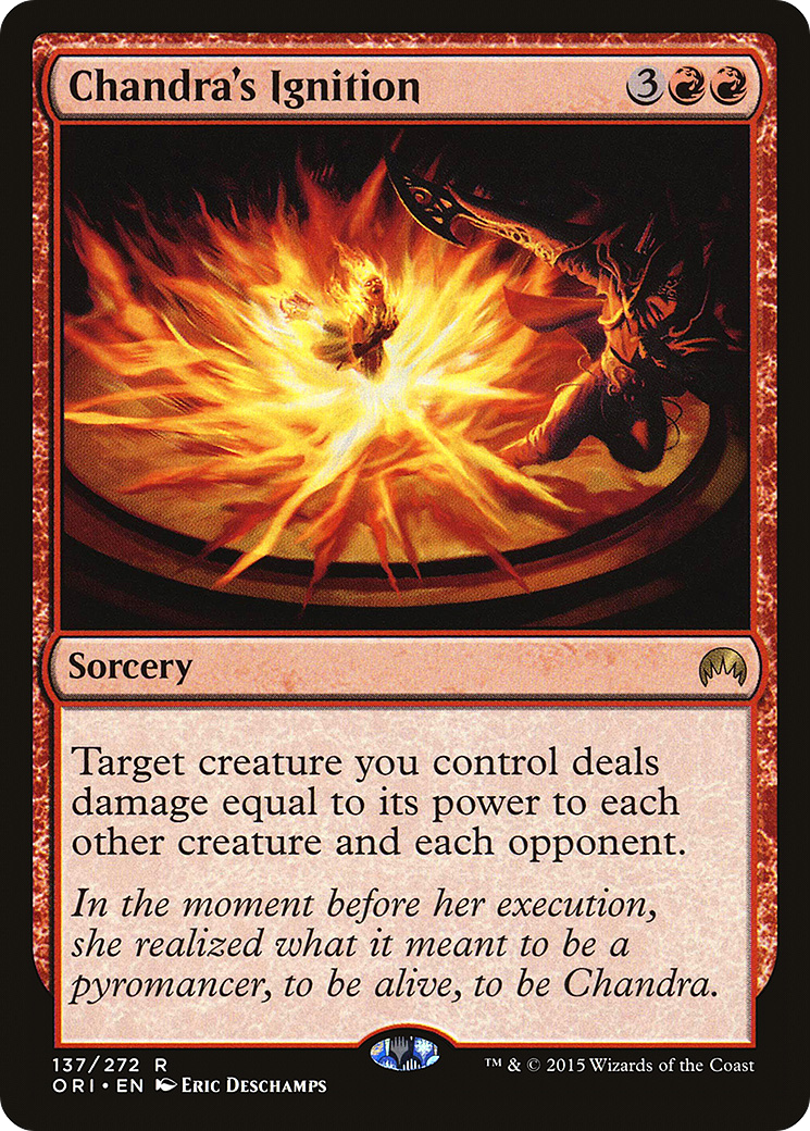 Chandra's Ignition Card Image