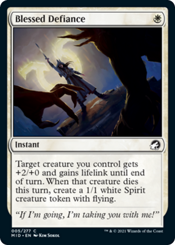 Blessed Defiance Card Image