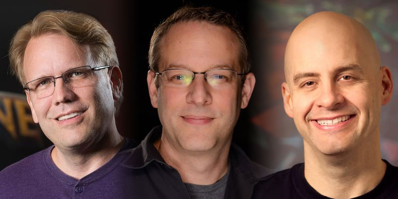 Eric Dodds, Jason Chayes, and Dustin Browder Left Blizzard
