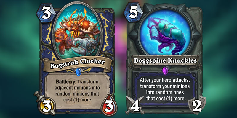 Bogstrok Clacker & Boggspine Knuckles are New Shaman Cards Revealed for Hearthstone's Ashes of Outland Expansion