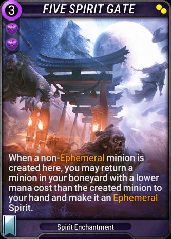 Five Spirit Gate Card Image