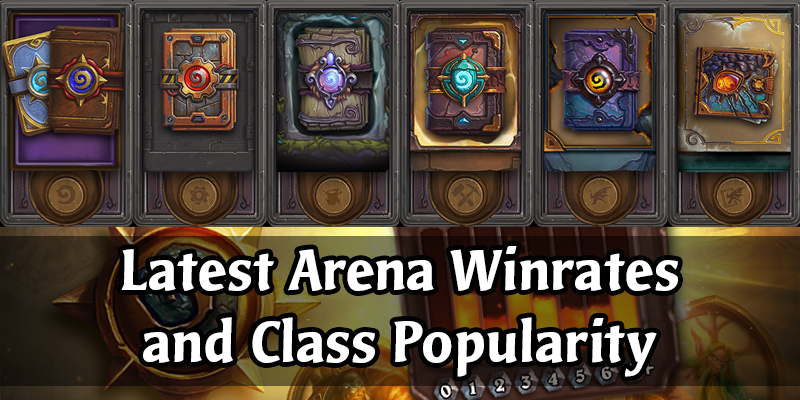 Hearthstone's Arena Class Winrates and Popularity Stats Since the New Rotation on March 4