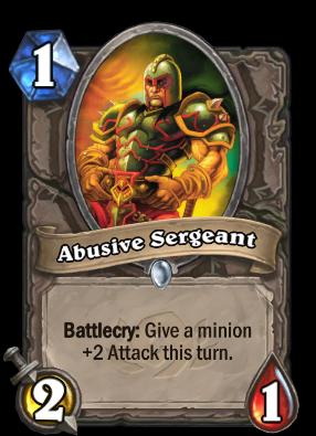 Abusive Sergeant Card Image