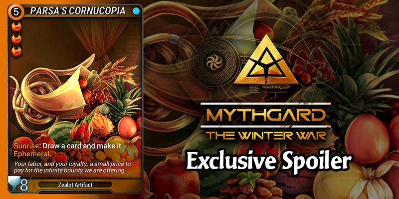 EXCLUSIVE Mythgard Card Spoiler for The Winter War - Parsa's Cornucopia